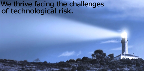 We thrive facing the challenges of technological risk.